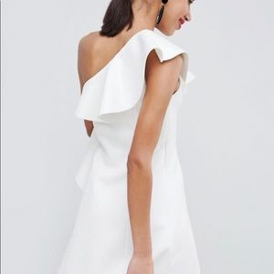 ASOS Dresses - ASOS DESIGN one shoulder ruffle a-line mini dress